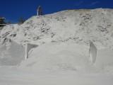 Vista exterior de la montaña de yeso
